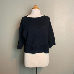 Mango casualwear xs oversized ribbed top iii28